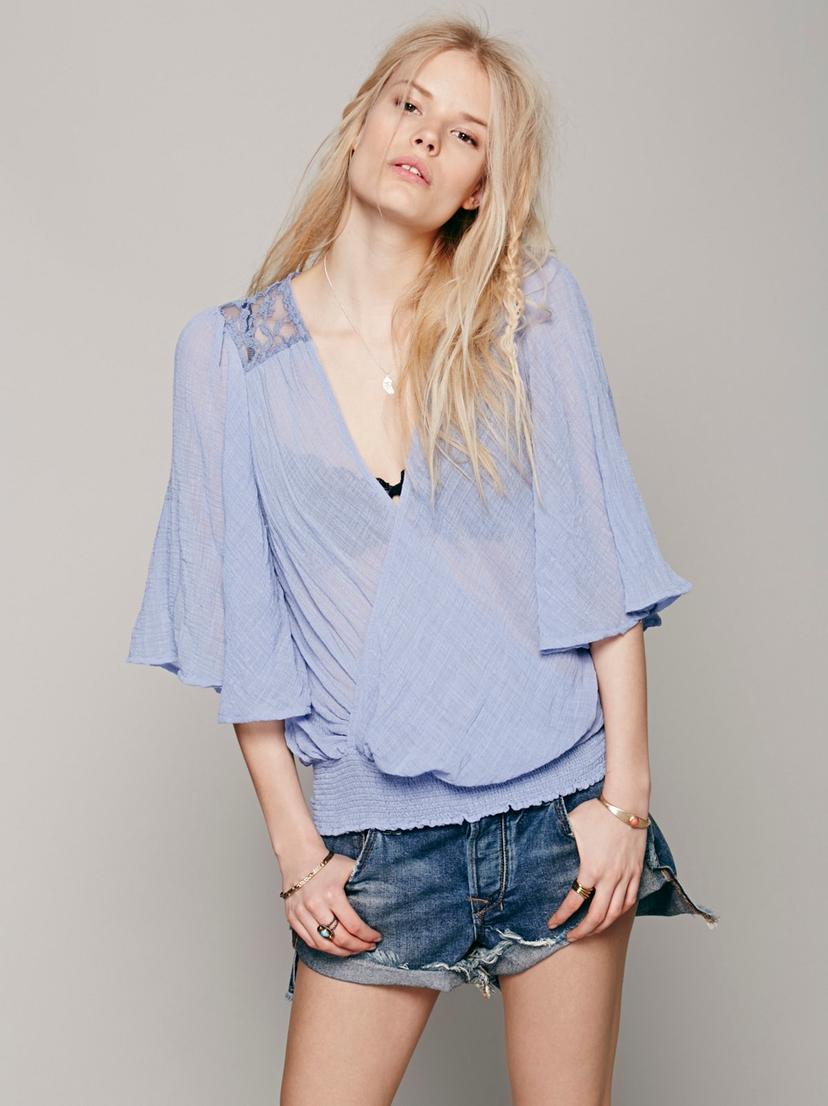 Open Ended Wrap Blouse
