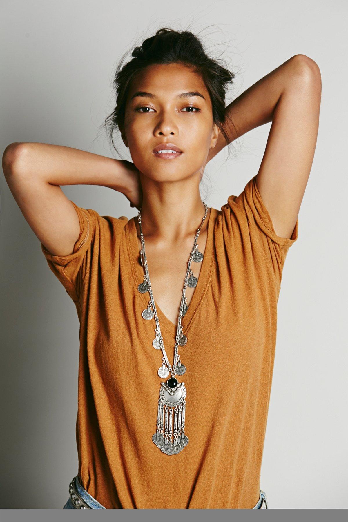 Ebony Coin Layering Necklace