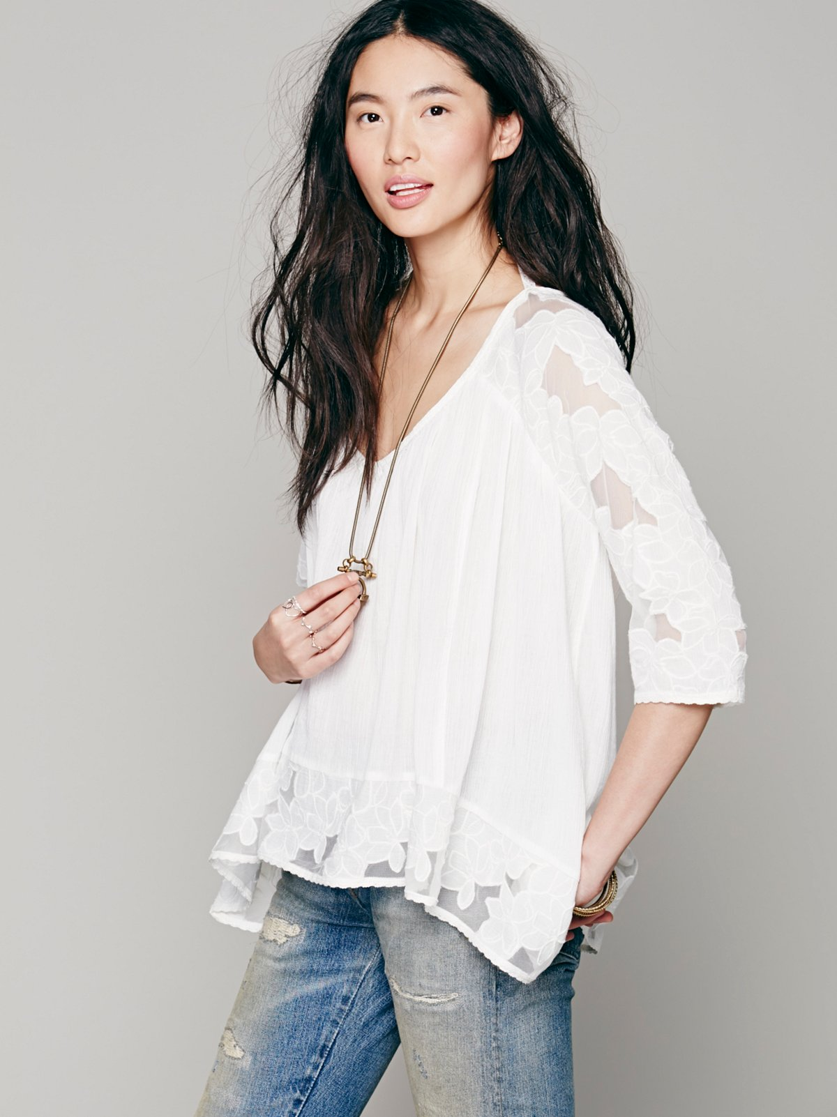 Cutwork Oversized Tunic