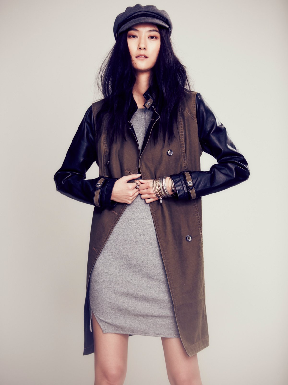 Vegan Pieced Trench Coat