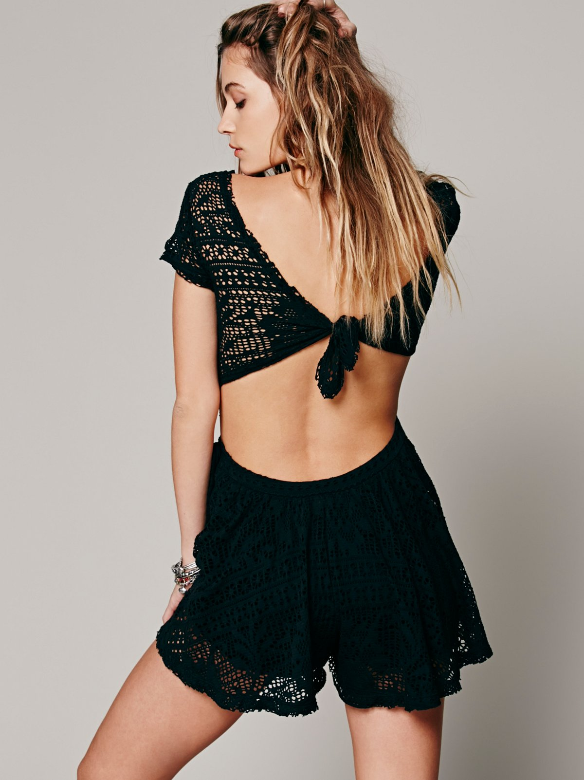 Walk to the Beat Crochet Romper