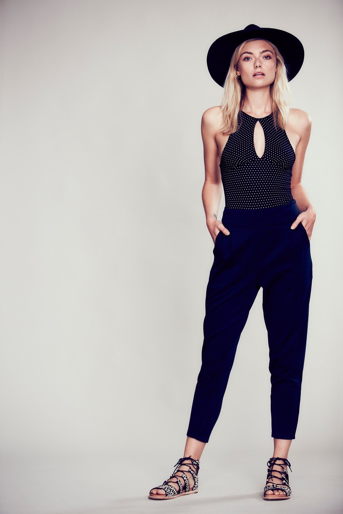 High Rise Pleat Pant
