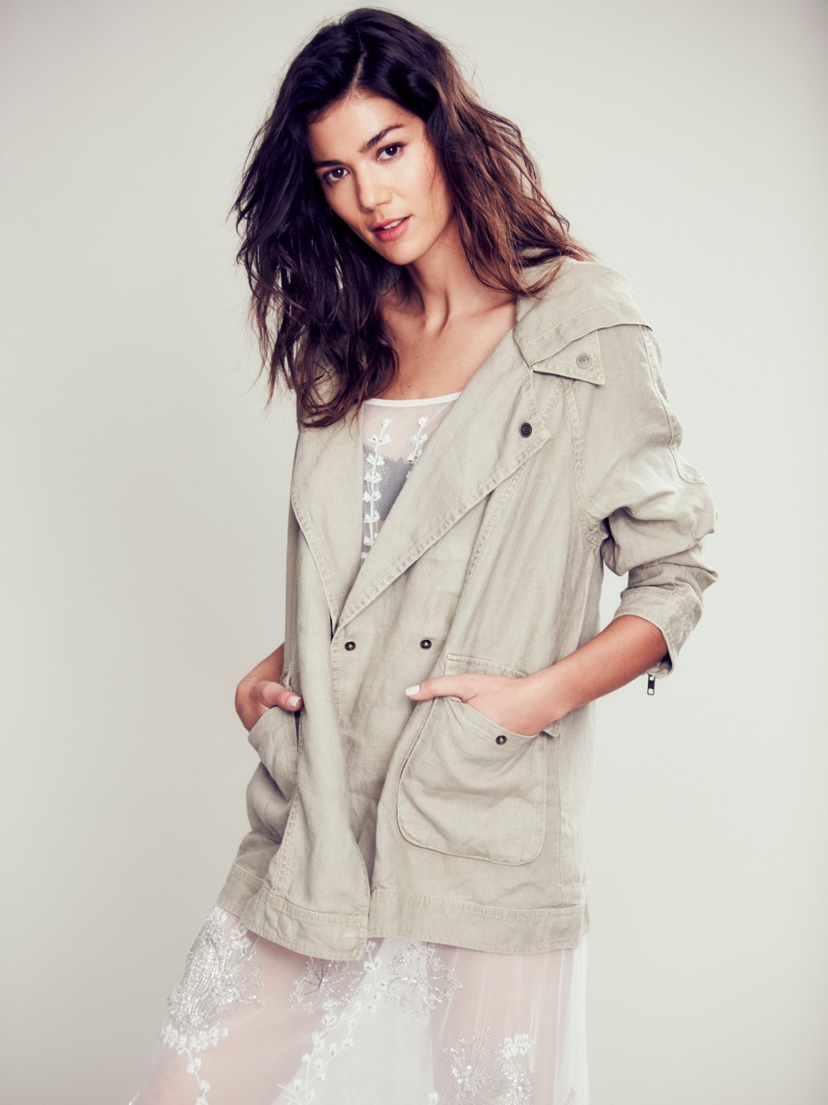 Slouchy Linen Jacket