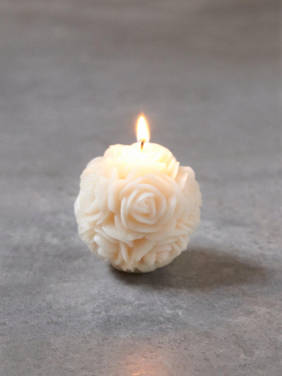 Medium Floral Candle