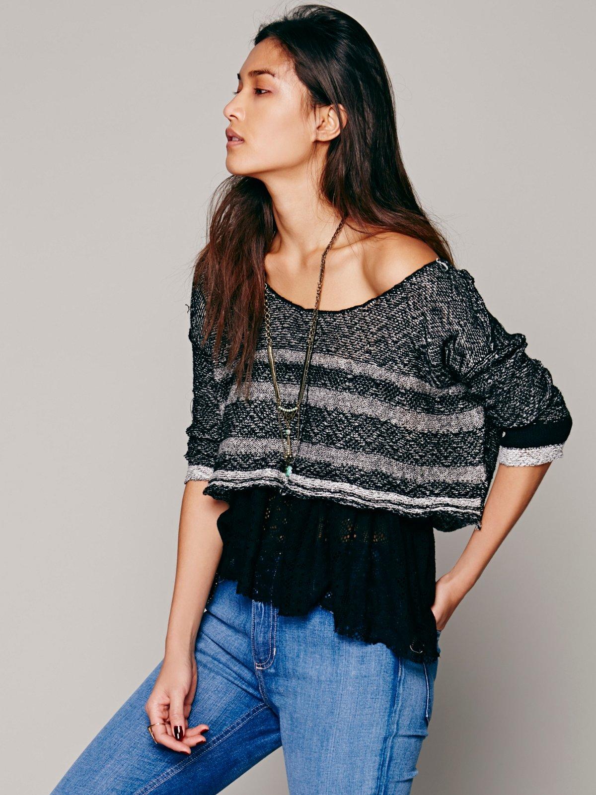 Stripe Sweater 2fer