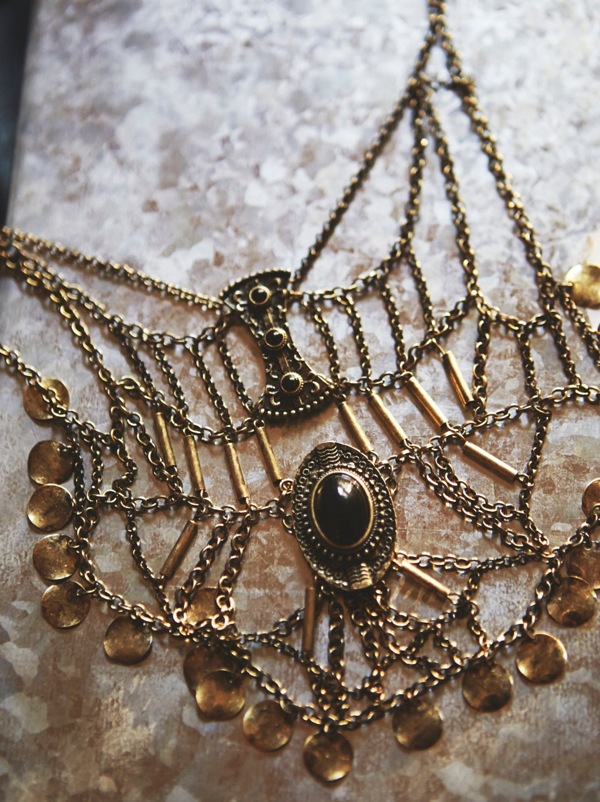 Katie Coin Statement Necklace
