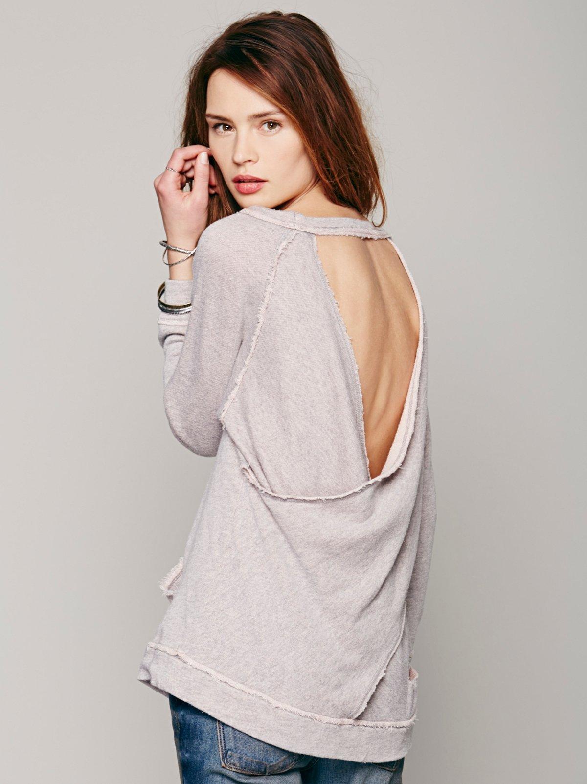 Surplice Back Pullover