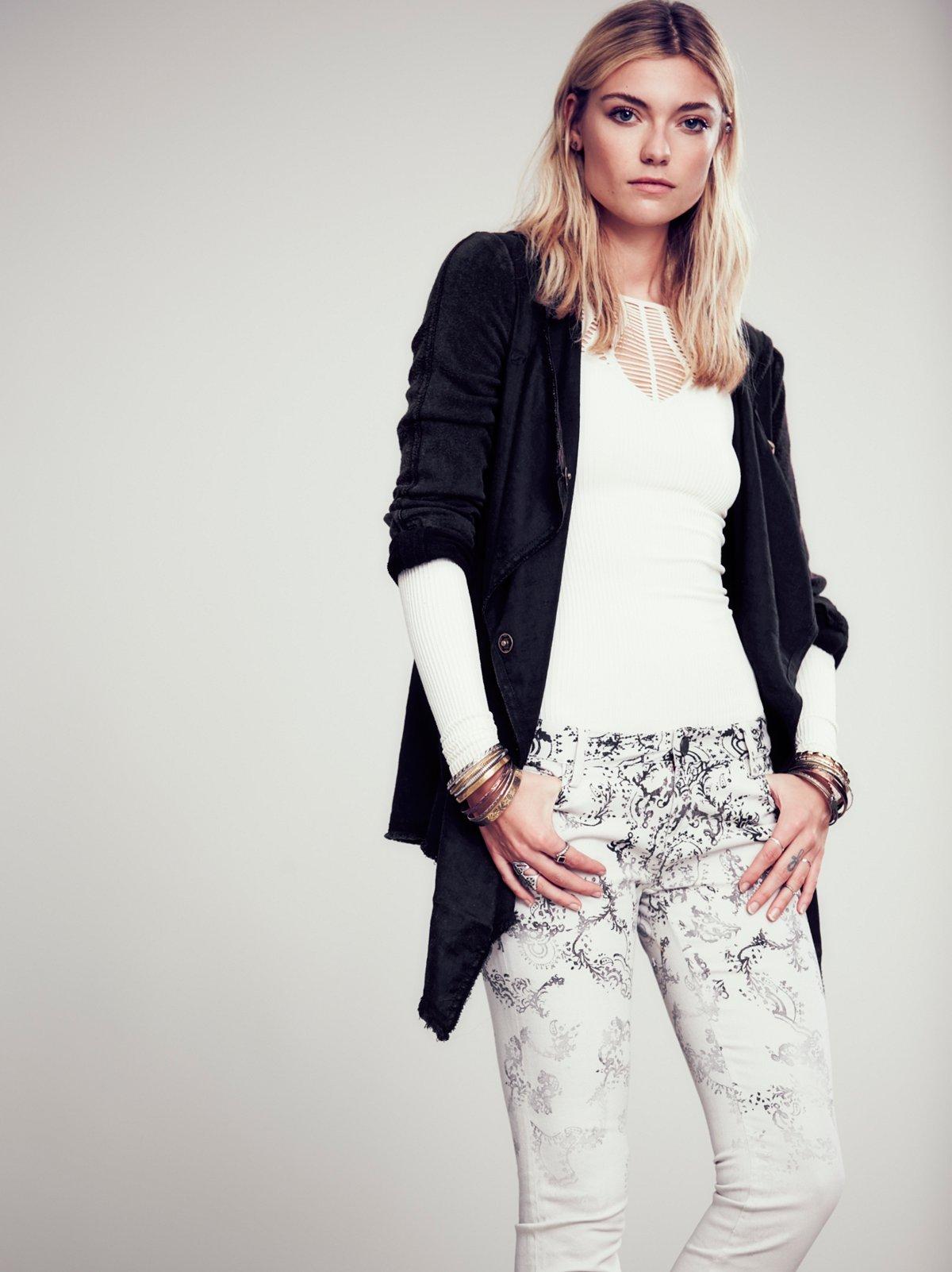 Drippy Linen Jacket