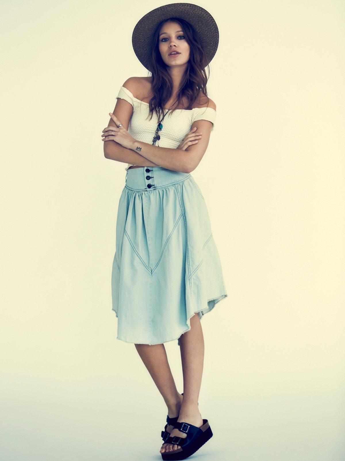 Chambray Denim Skirt