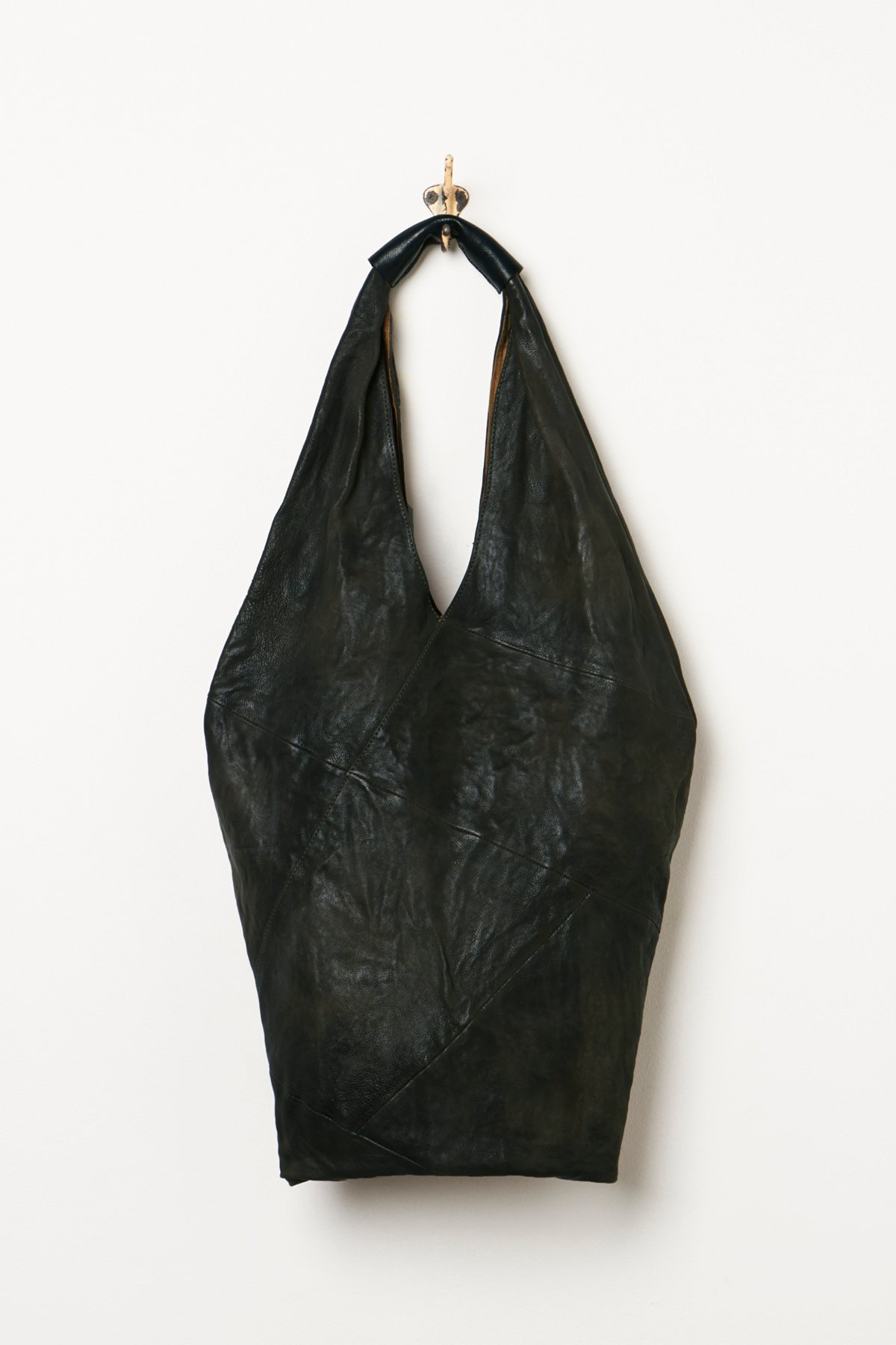 Distressed Leather Hobo