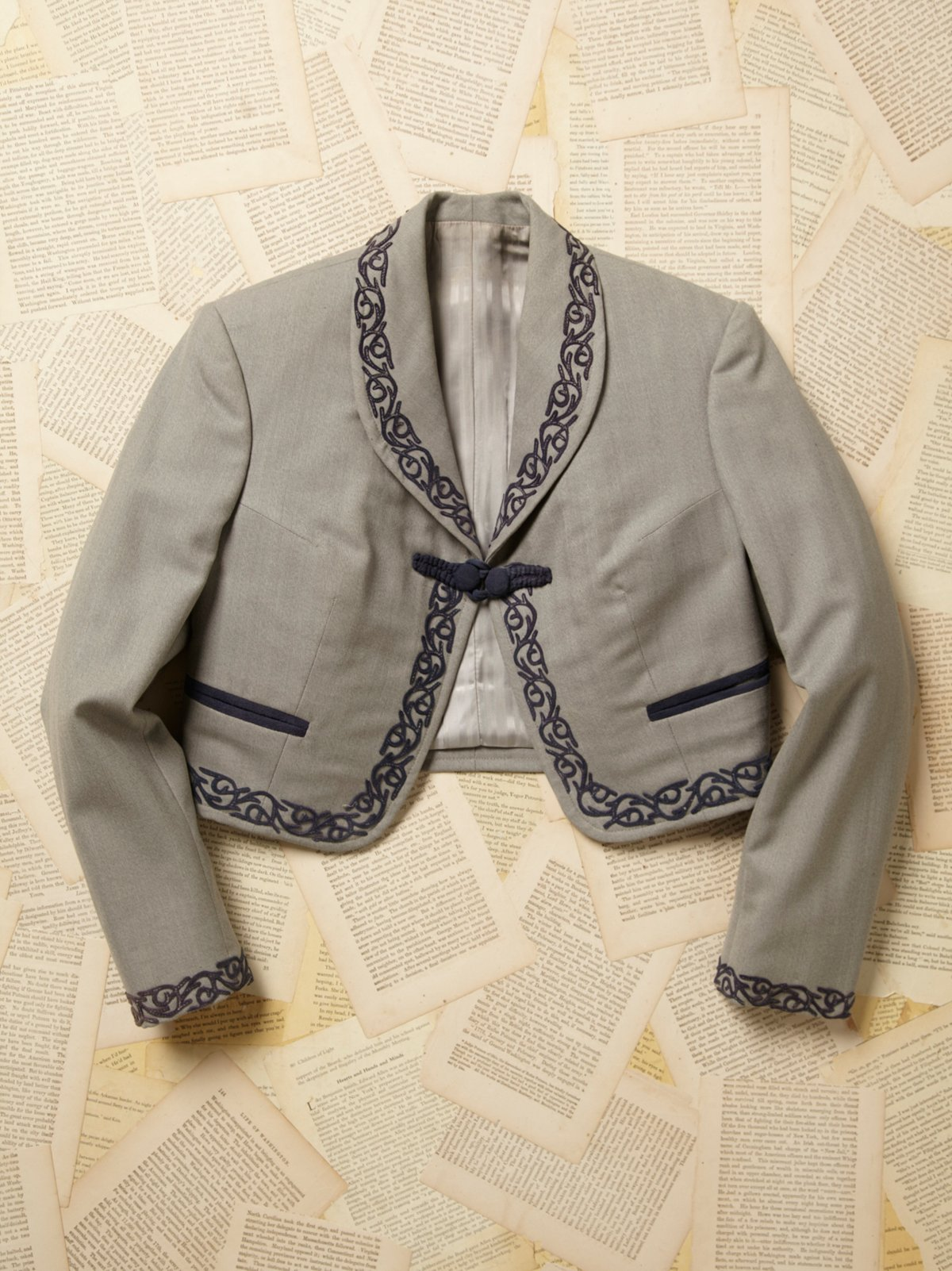 Vintage Cropped Embroidered Jacket