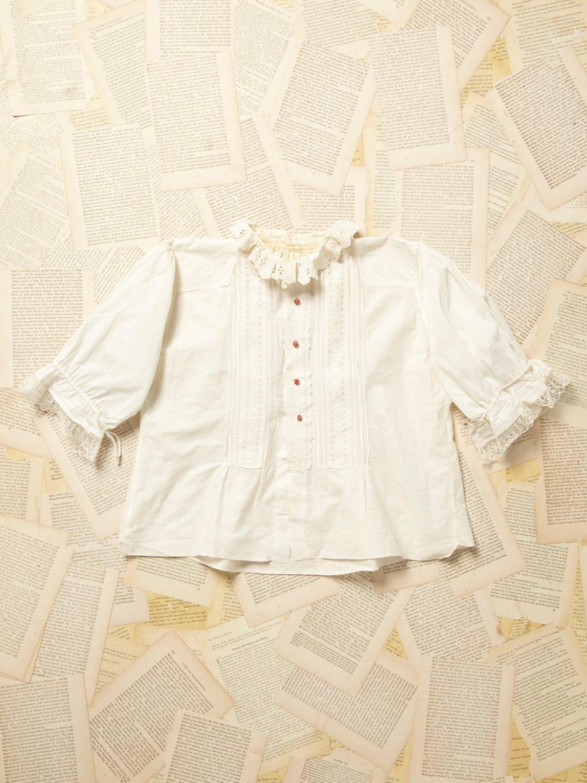 Vintage Victorian Cotton and Lace Blouse