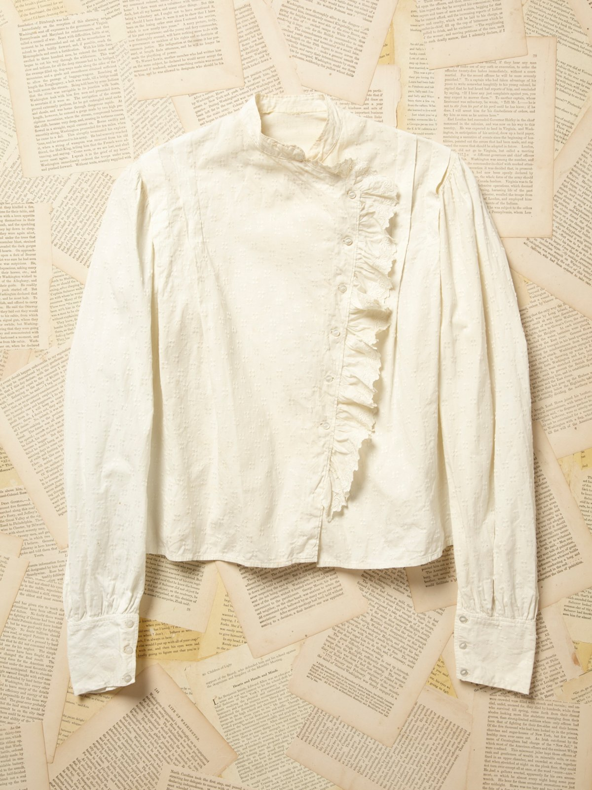Vintage Victorian Cotton and Eyelet Blouse