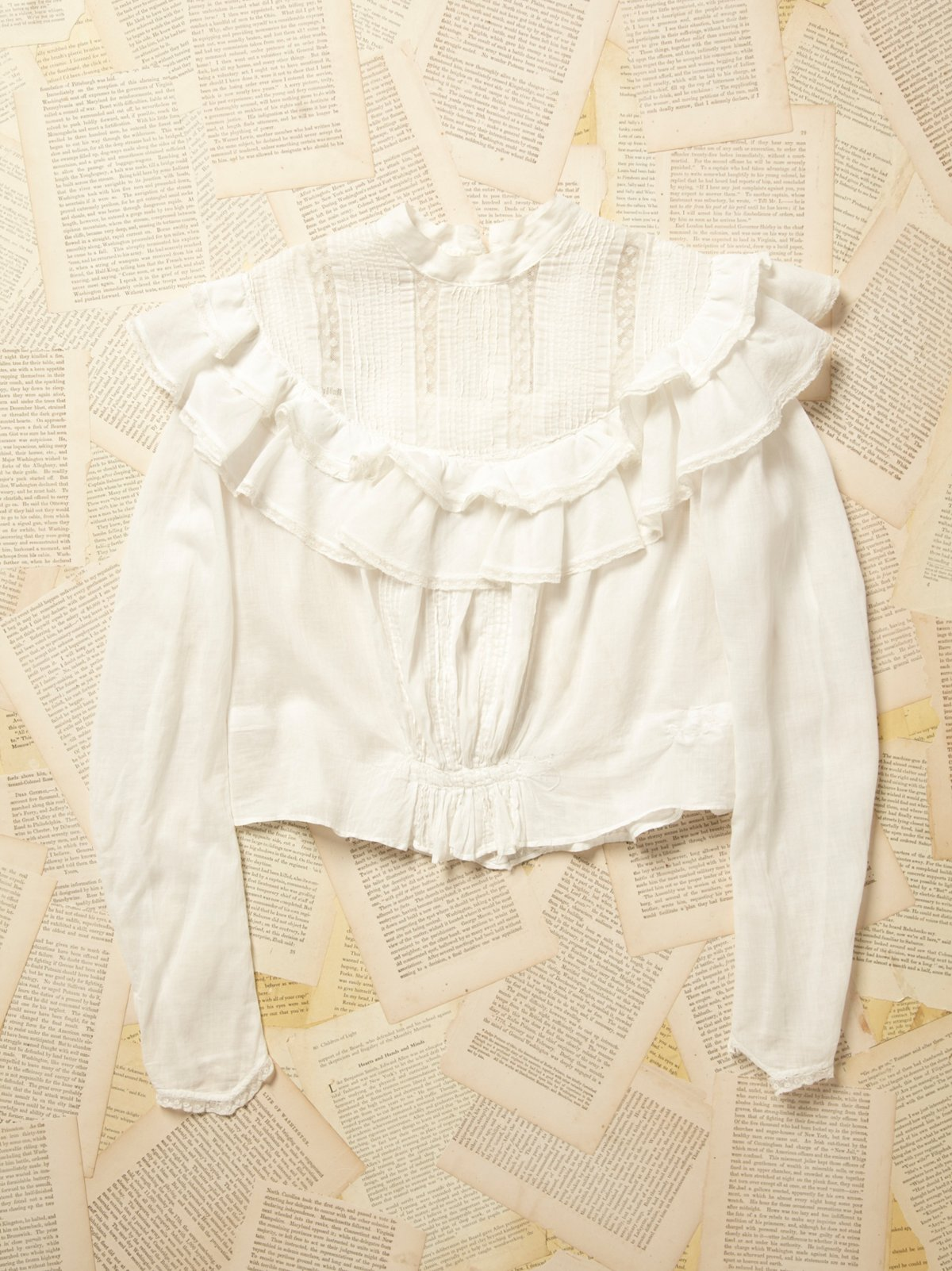 Vintage 1970s Cotton and Lace Blouse