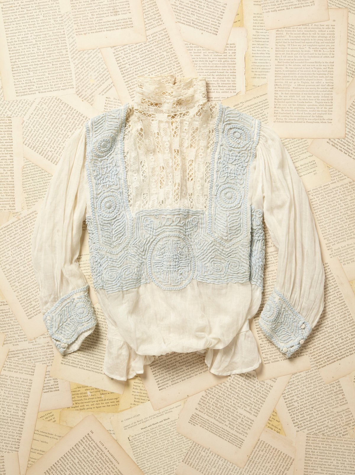 Vintage 1930s Embroidered Lace Blouse
