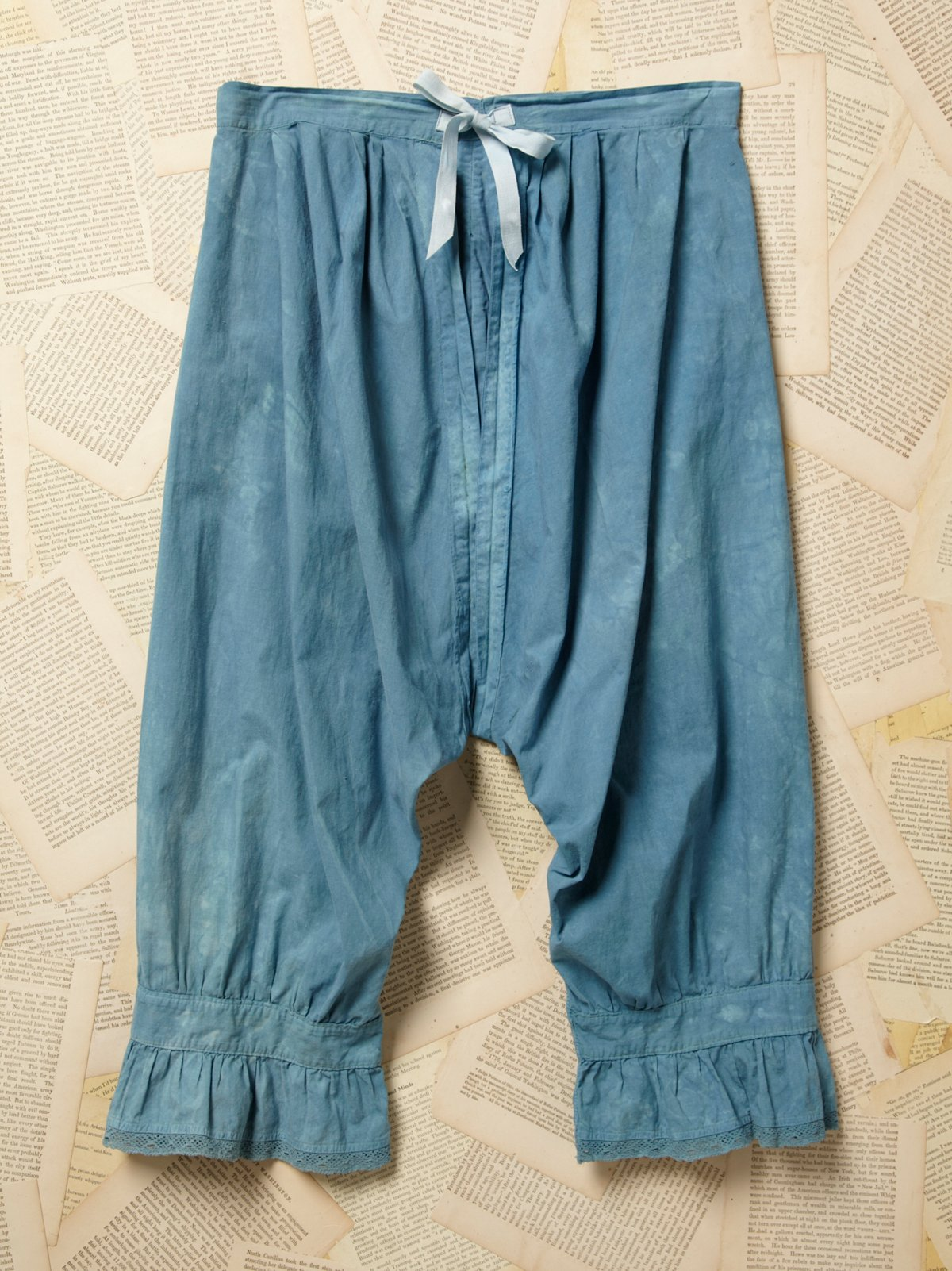 Vintage Victorian Overdyed Blue Bloomers