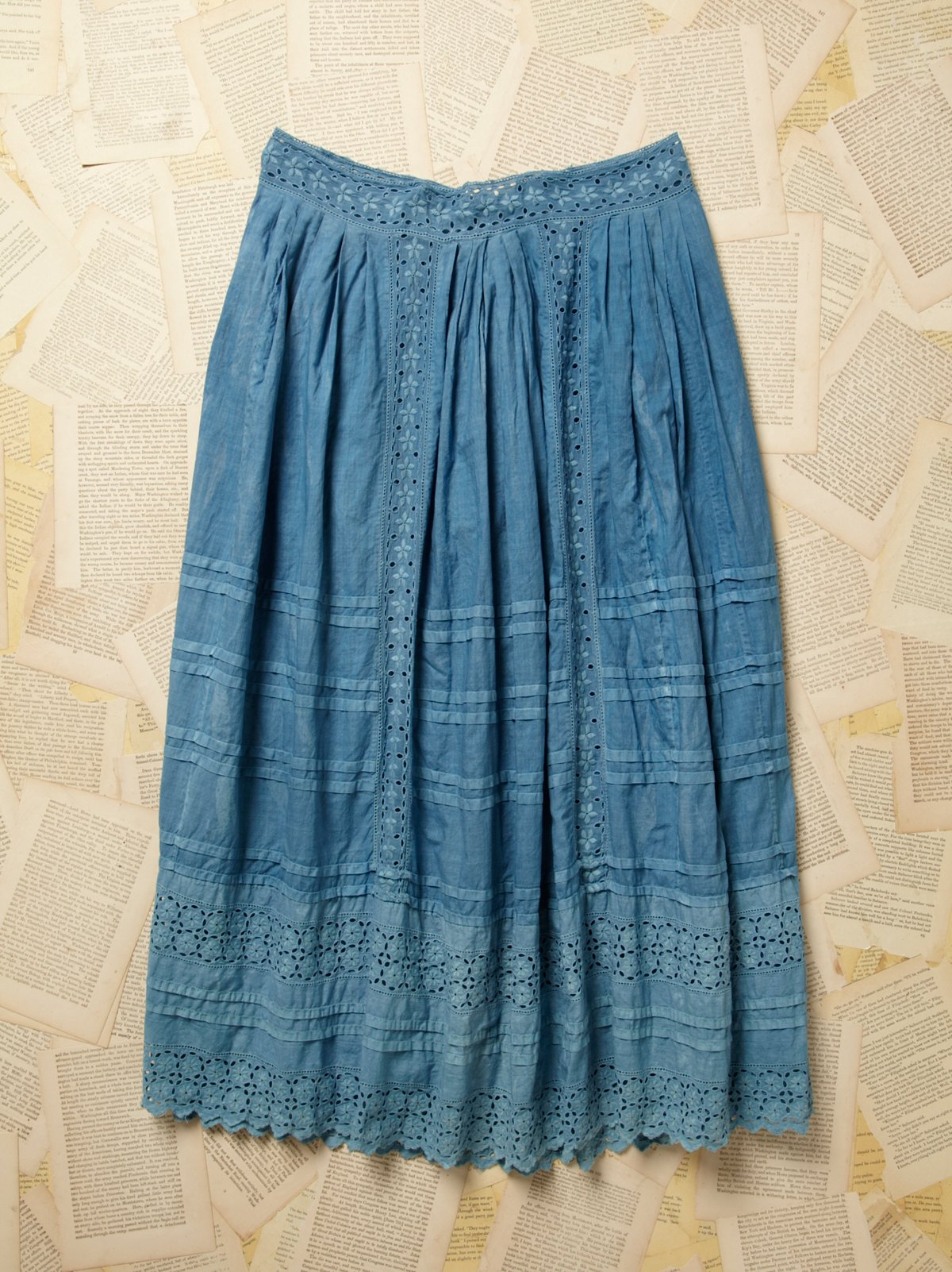 Vintage Victorian Blue Overdyed Petticoat