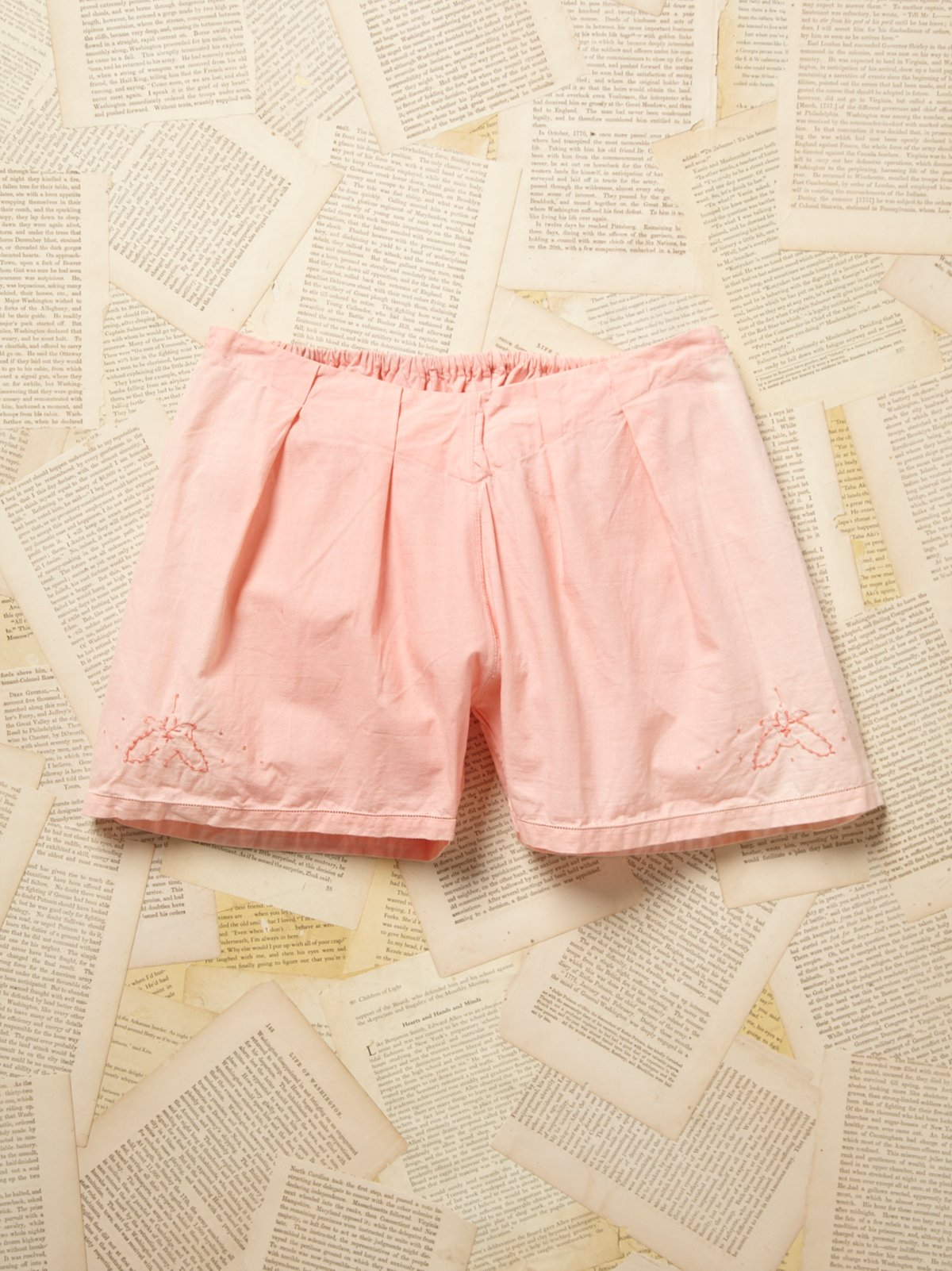 Vintage Pink Victorian Overdyed Shorts