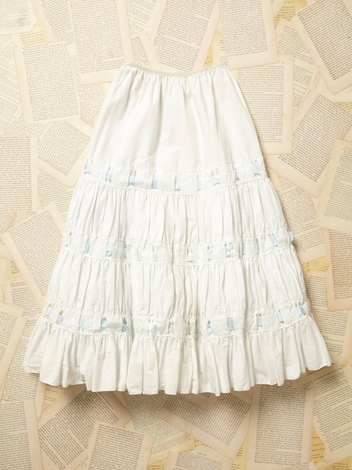 Vintage 1950s White Cotton Petticoat