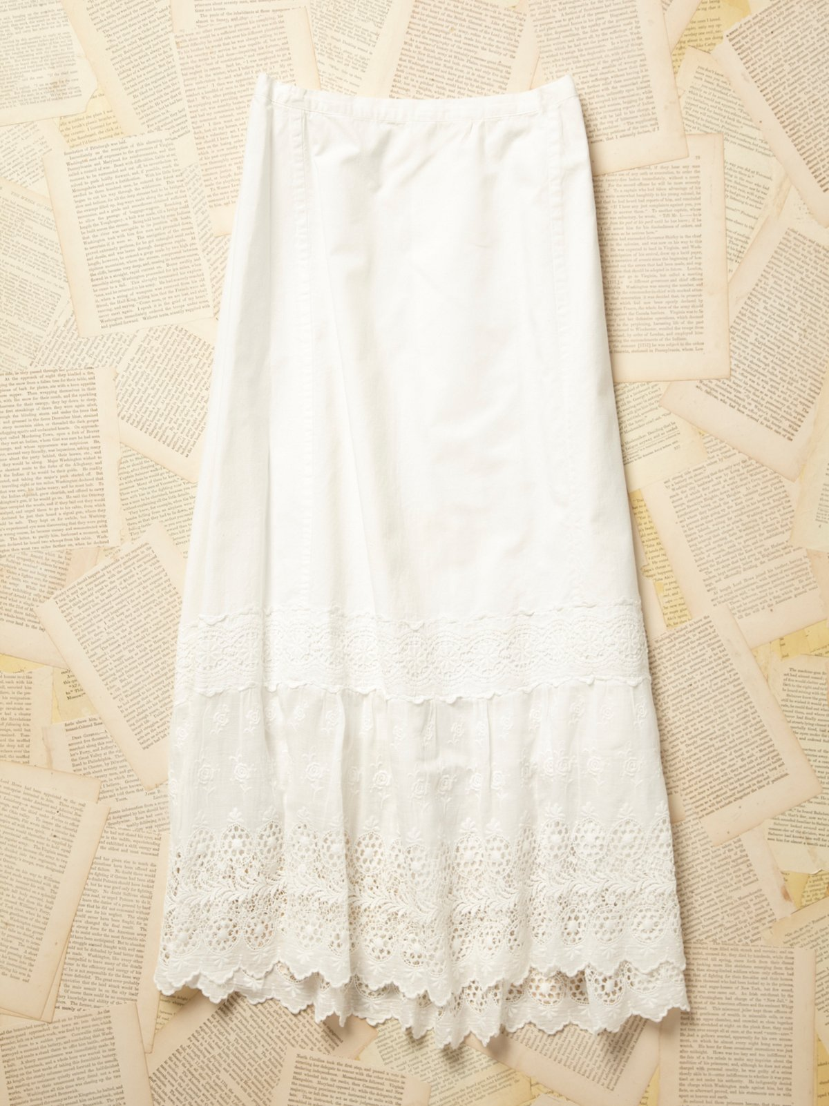 Vintage Victorian White Cotton Petticoat