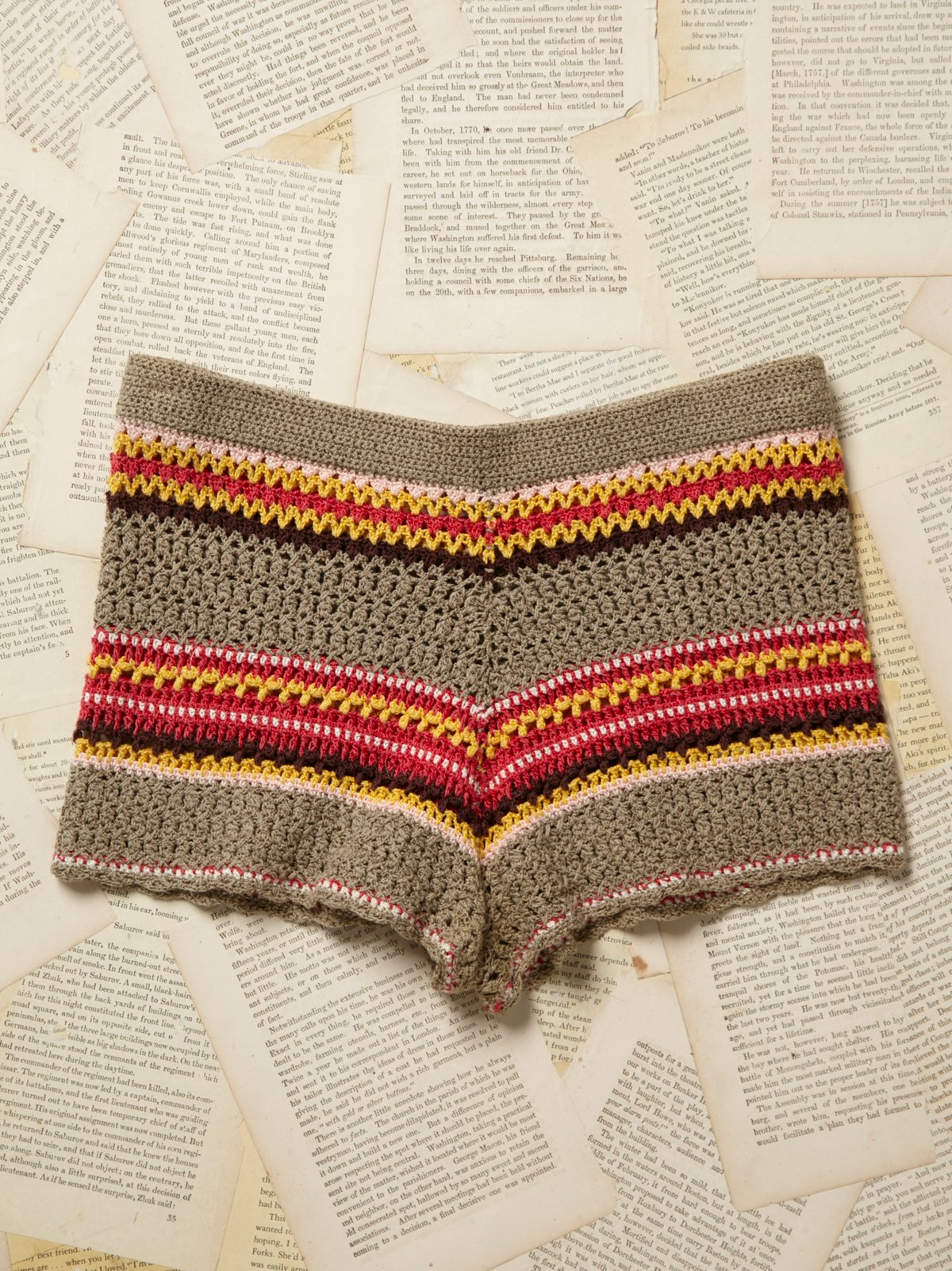 Vintage 1970s Crochet Shorts