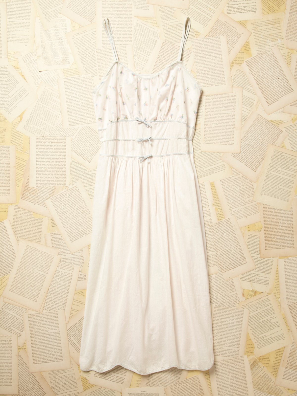 Vintage 1960s Cotton Dress with Embroidery