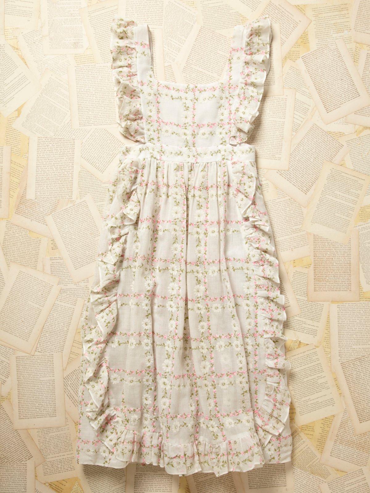 Vintage 1930s Floral Apron Dress