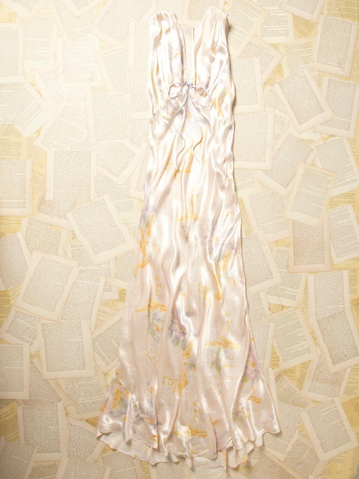 Vintage 1960s Pastel Floral Slip Dress