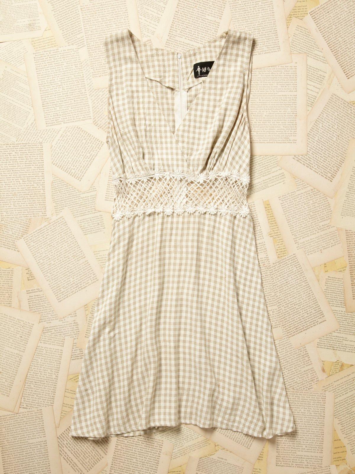 Vintage 1980s Patchwork Lattice Dress