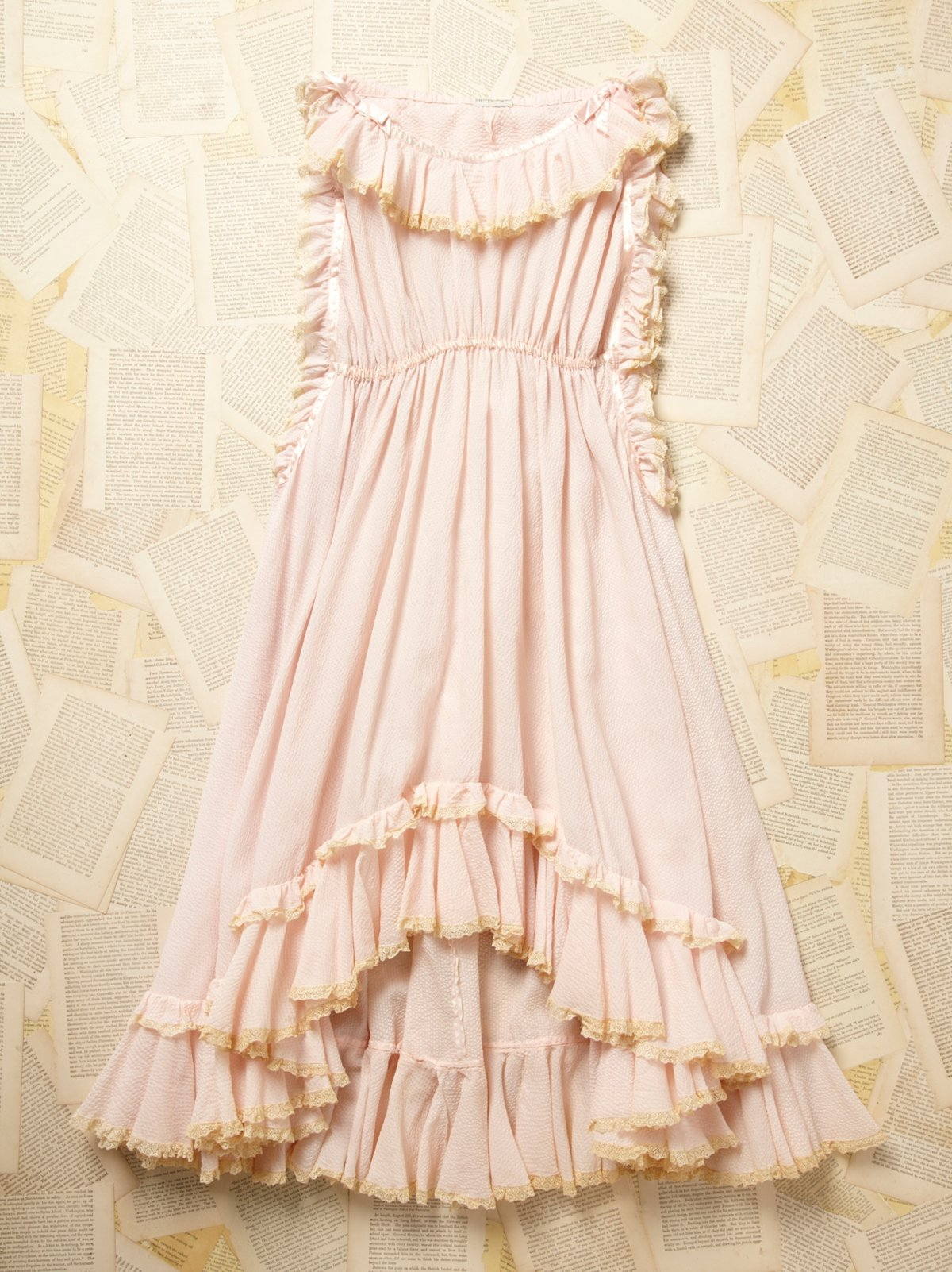Vintage 1930s Pink Ruffle Dress