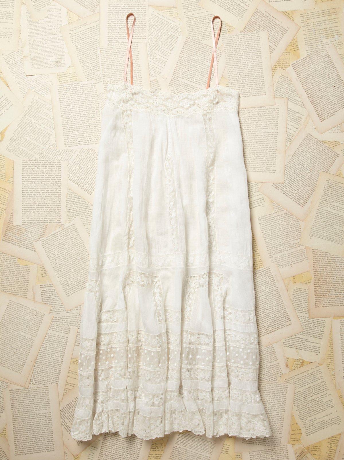 Vintage Victorian Cotton Lace Dress