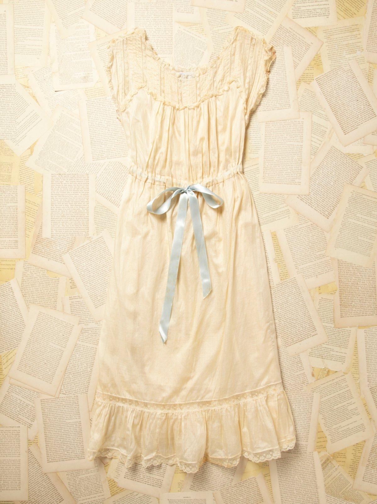 Vintage 1930s Lace and Cotton Dress