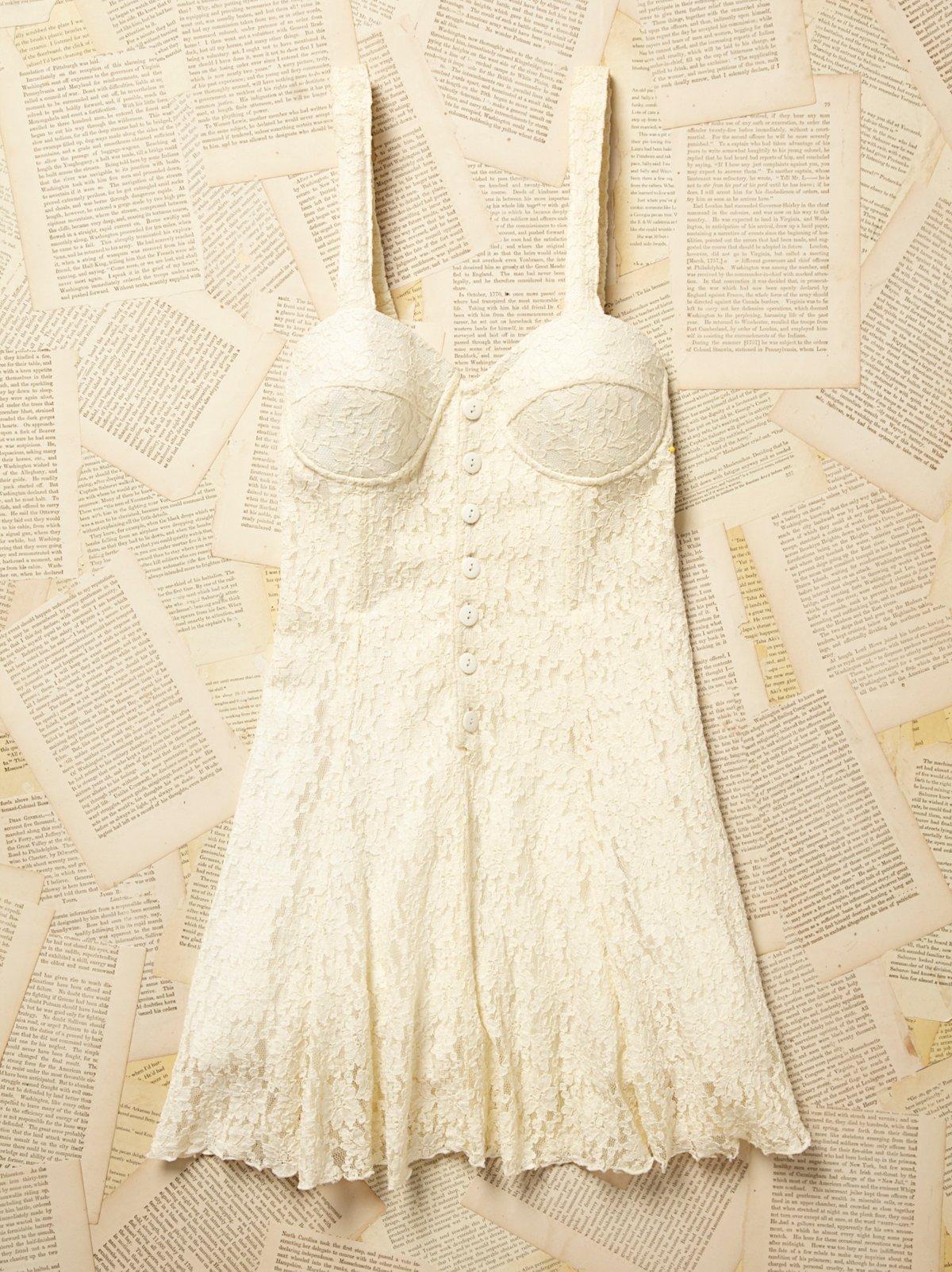 Vintage 1980s Boustier Lace Dress