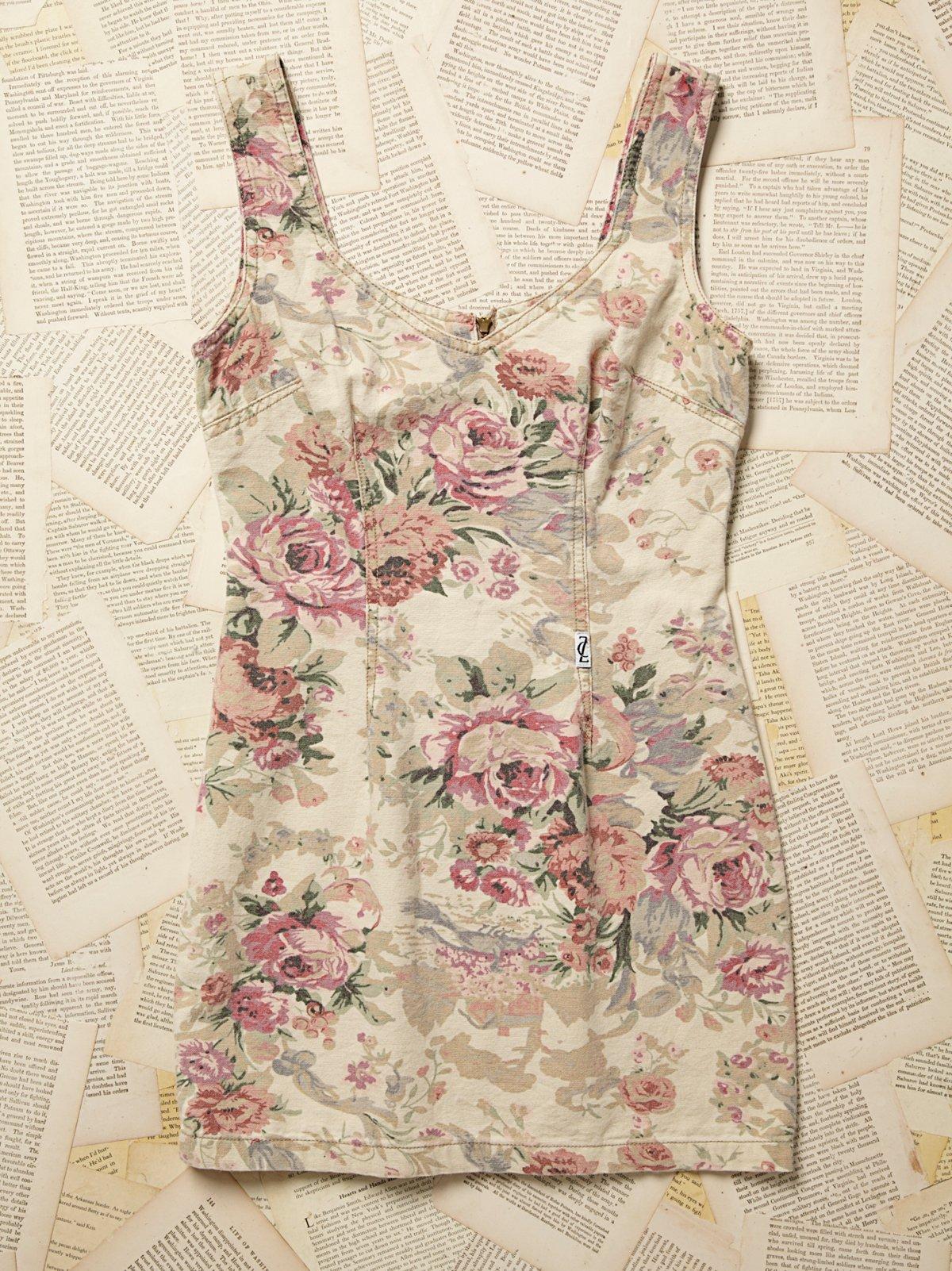 Vintage 1980s Floral Mini Dress