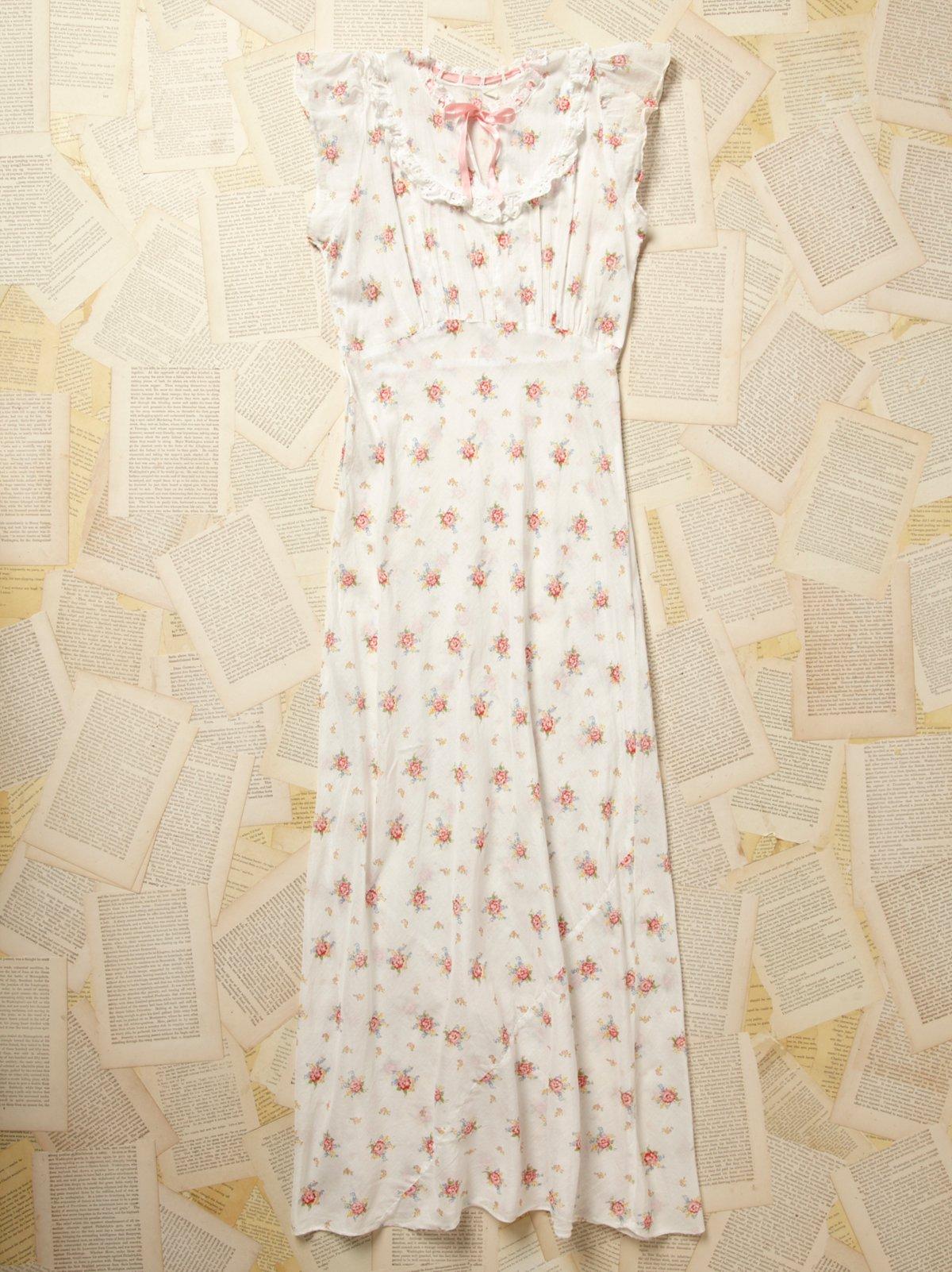 Vintage 1960s Cotton Floral Slip Dress
