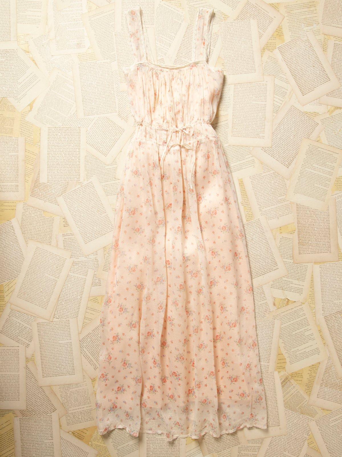 Vintage 1960s Floral Print Dress