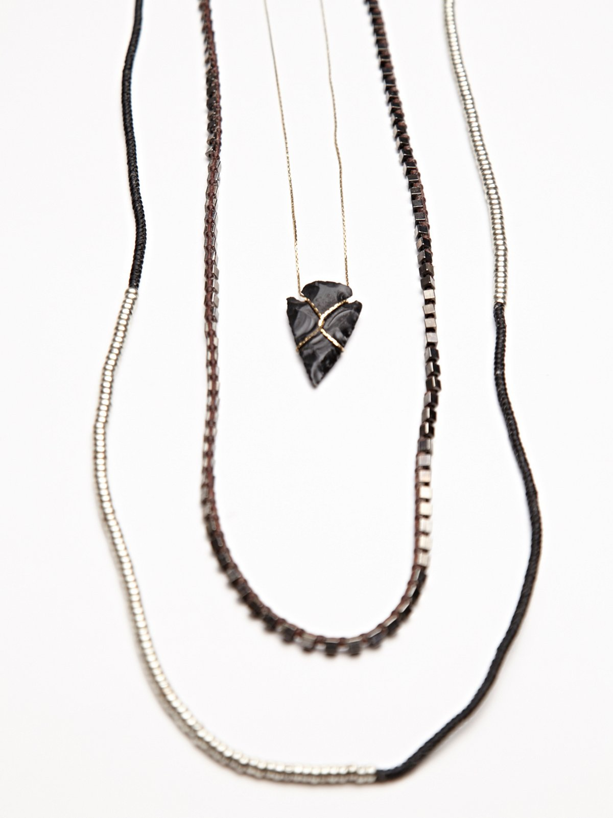 Arrowhead Triple Tier Necklace