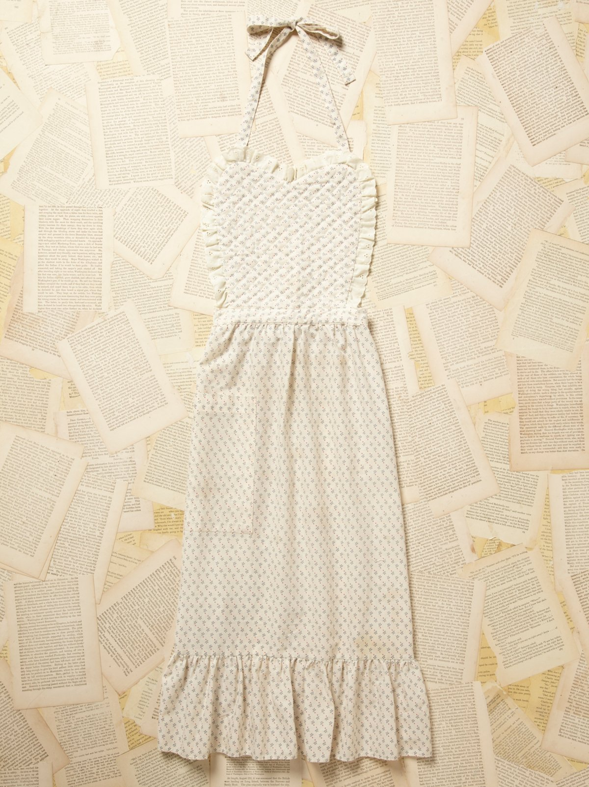 Vintage 1950s Quilted Apron