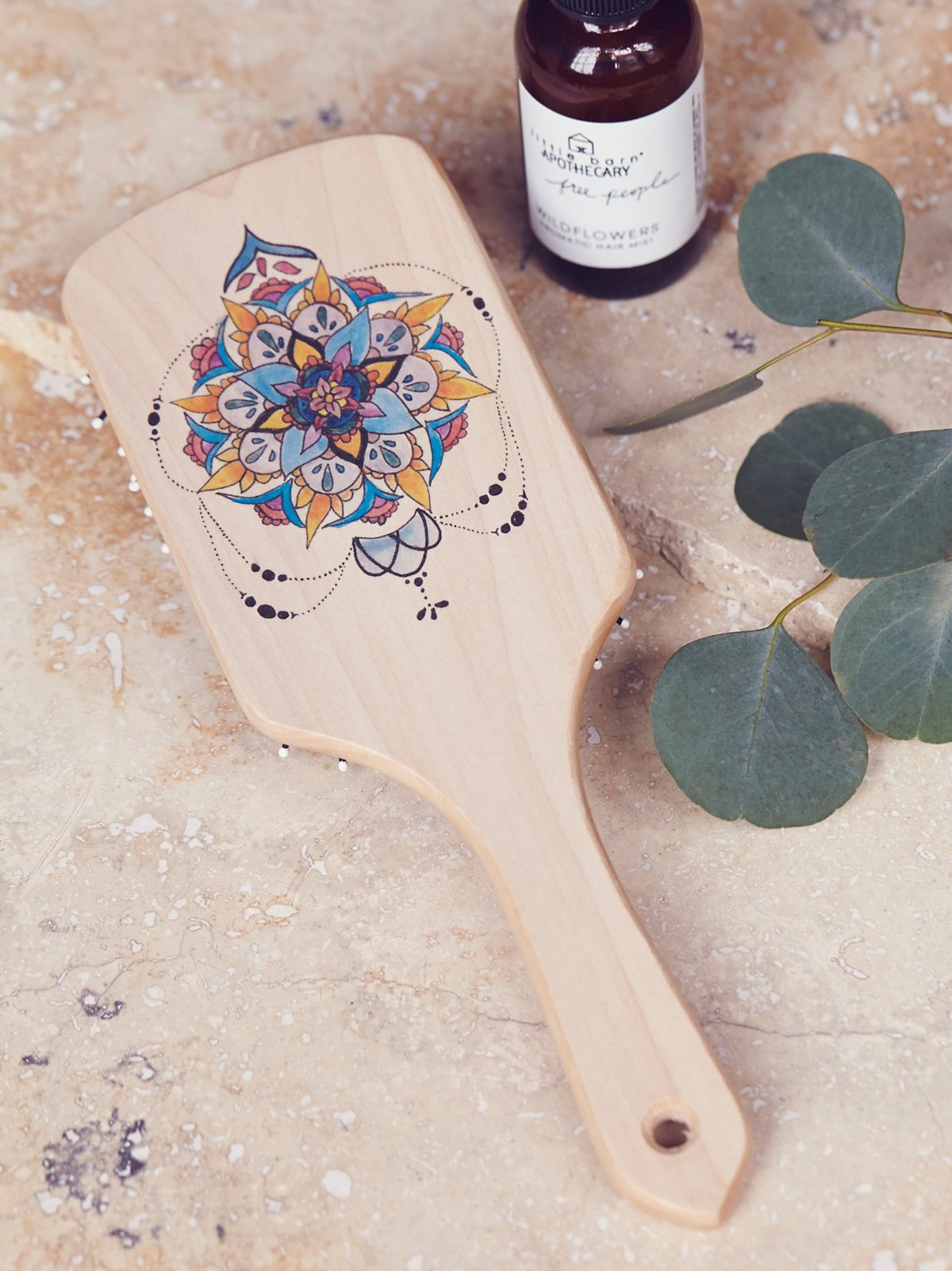 Hand Painted Wooden Brush