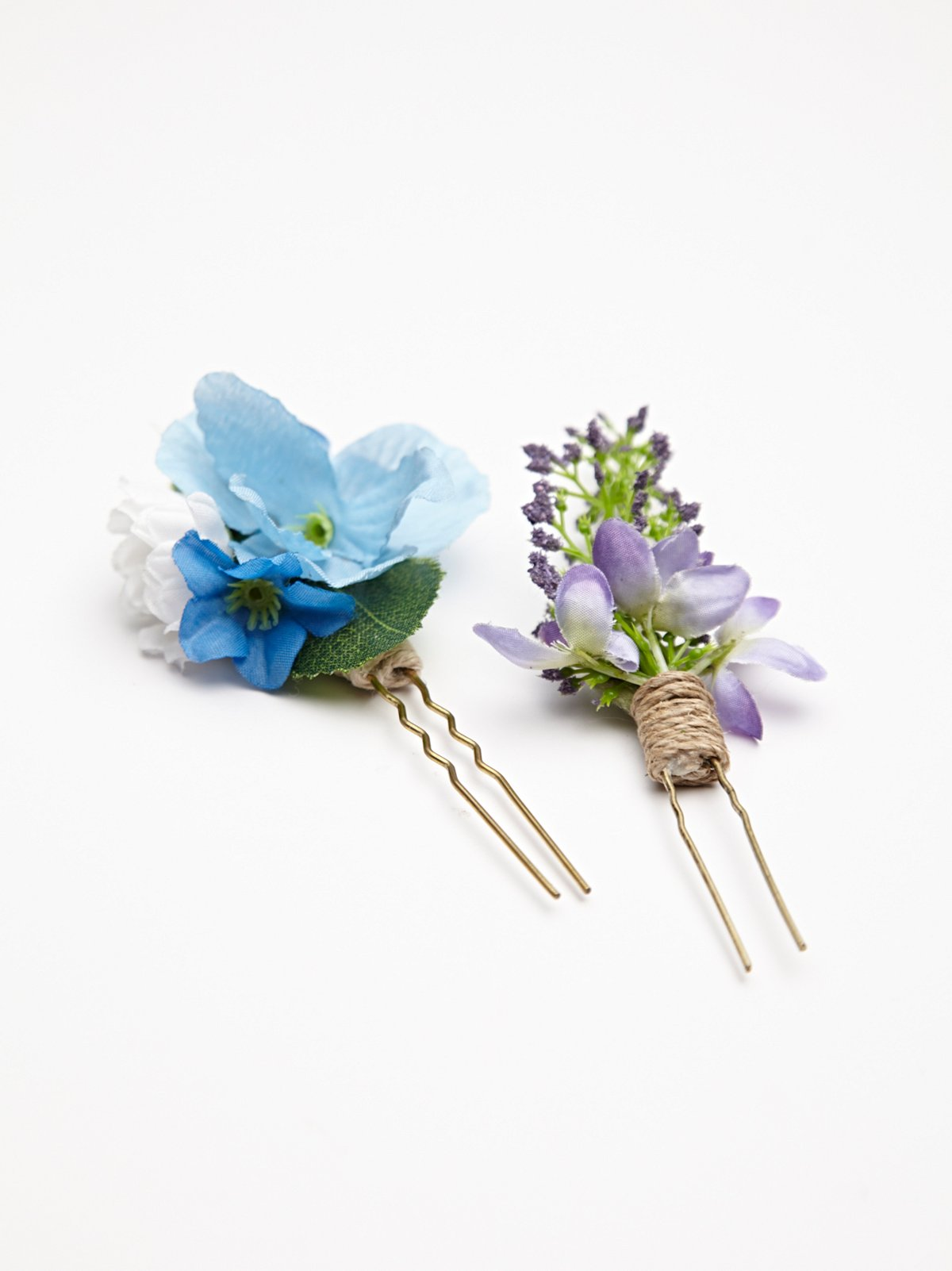 2 Pack Floral Hair Picks