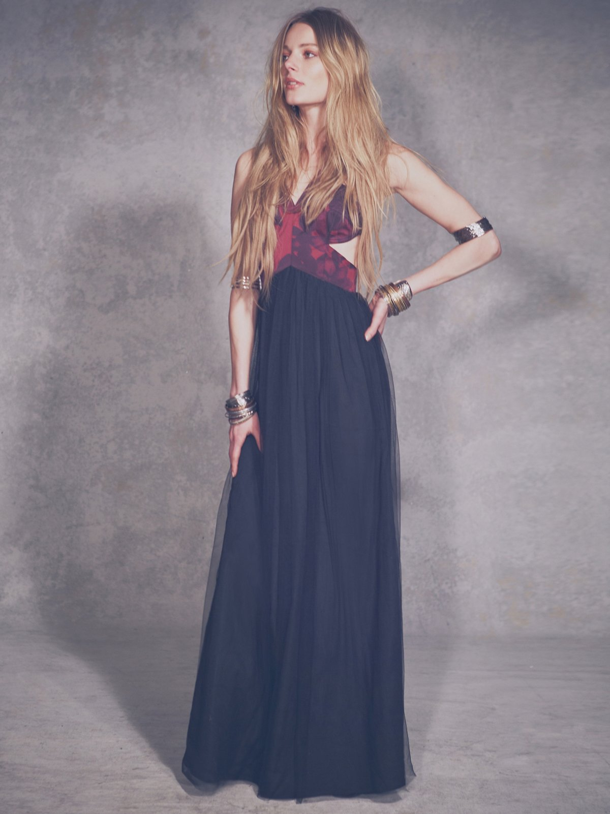 Black Rose Tulle Maxi