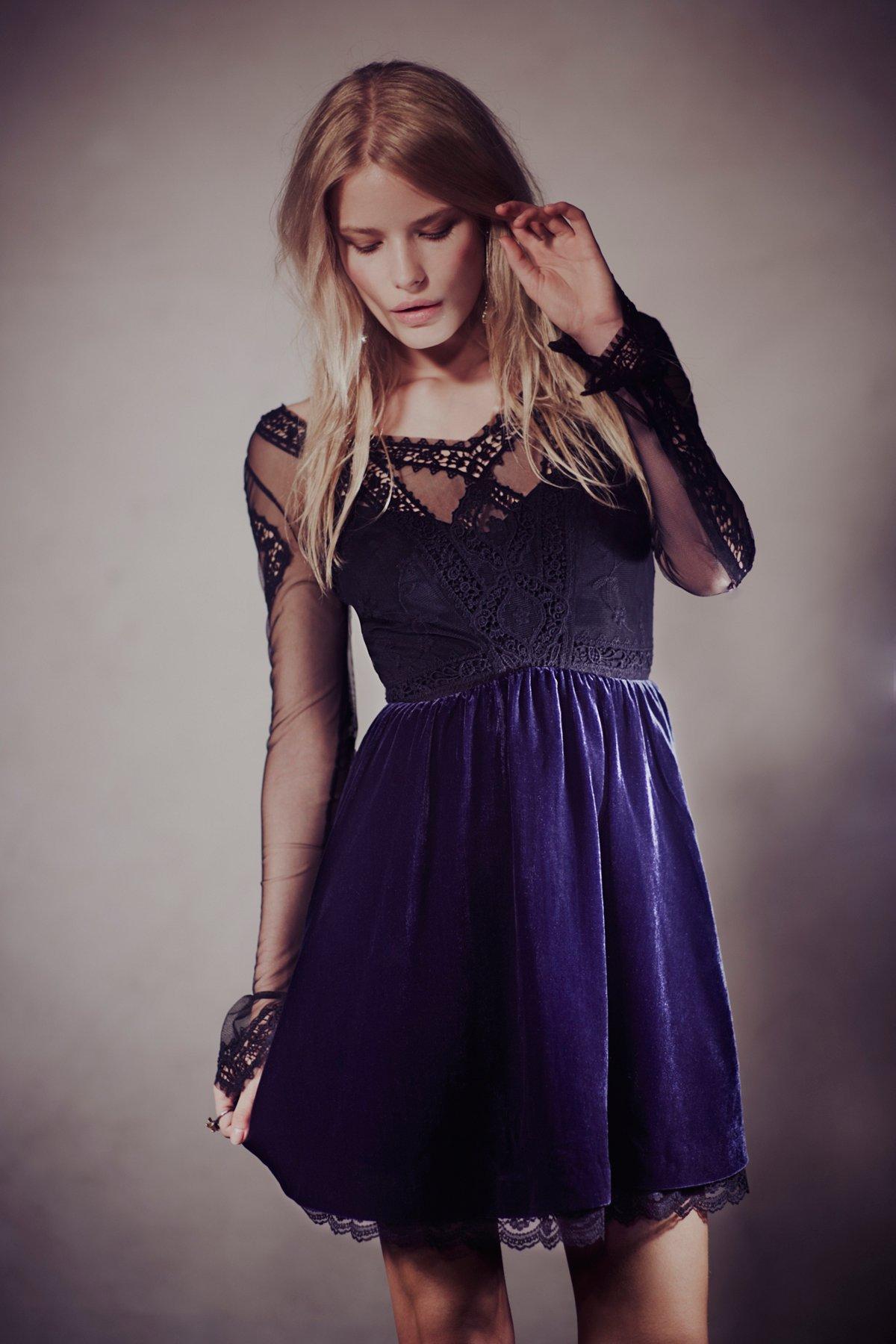 V For Victorian Velvet Mini Dress