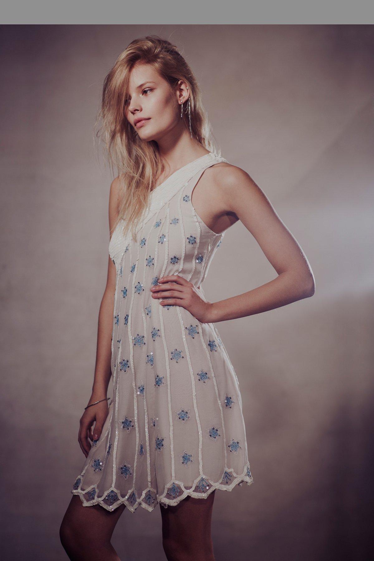 Starburst One Shoulder Dress