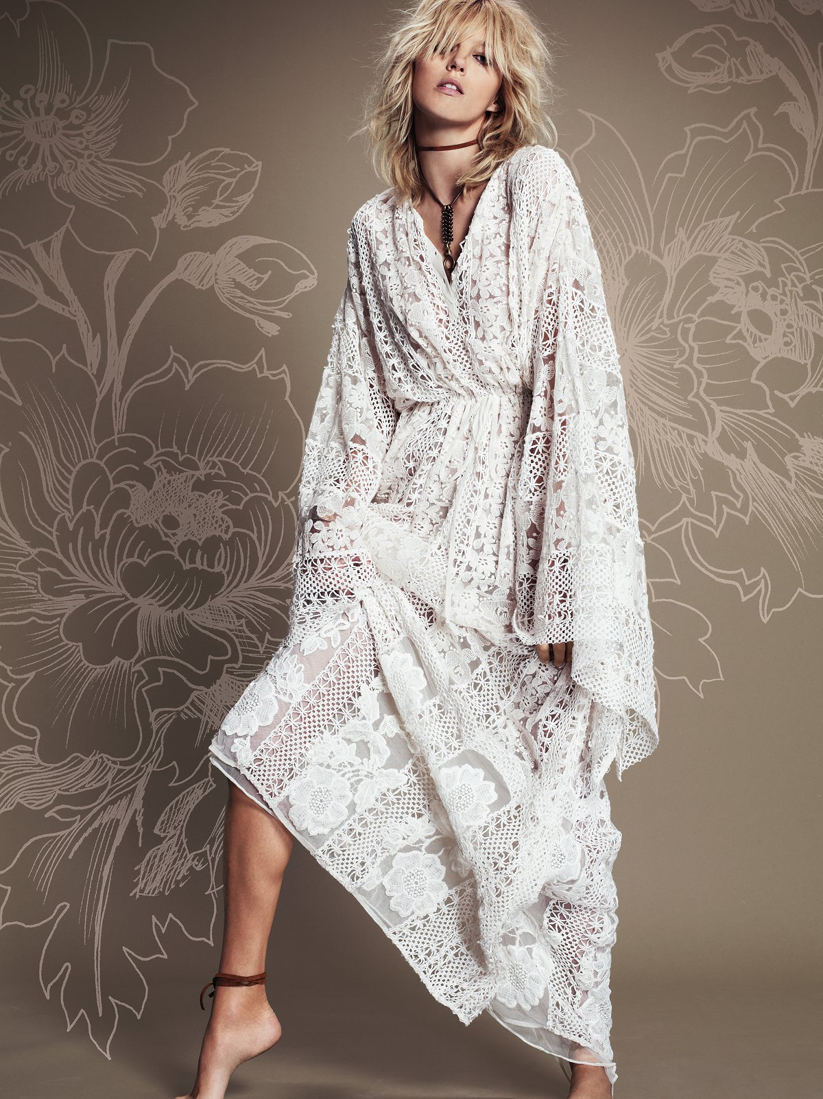 Sheer Delight Lace Kaftan