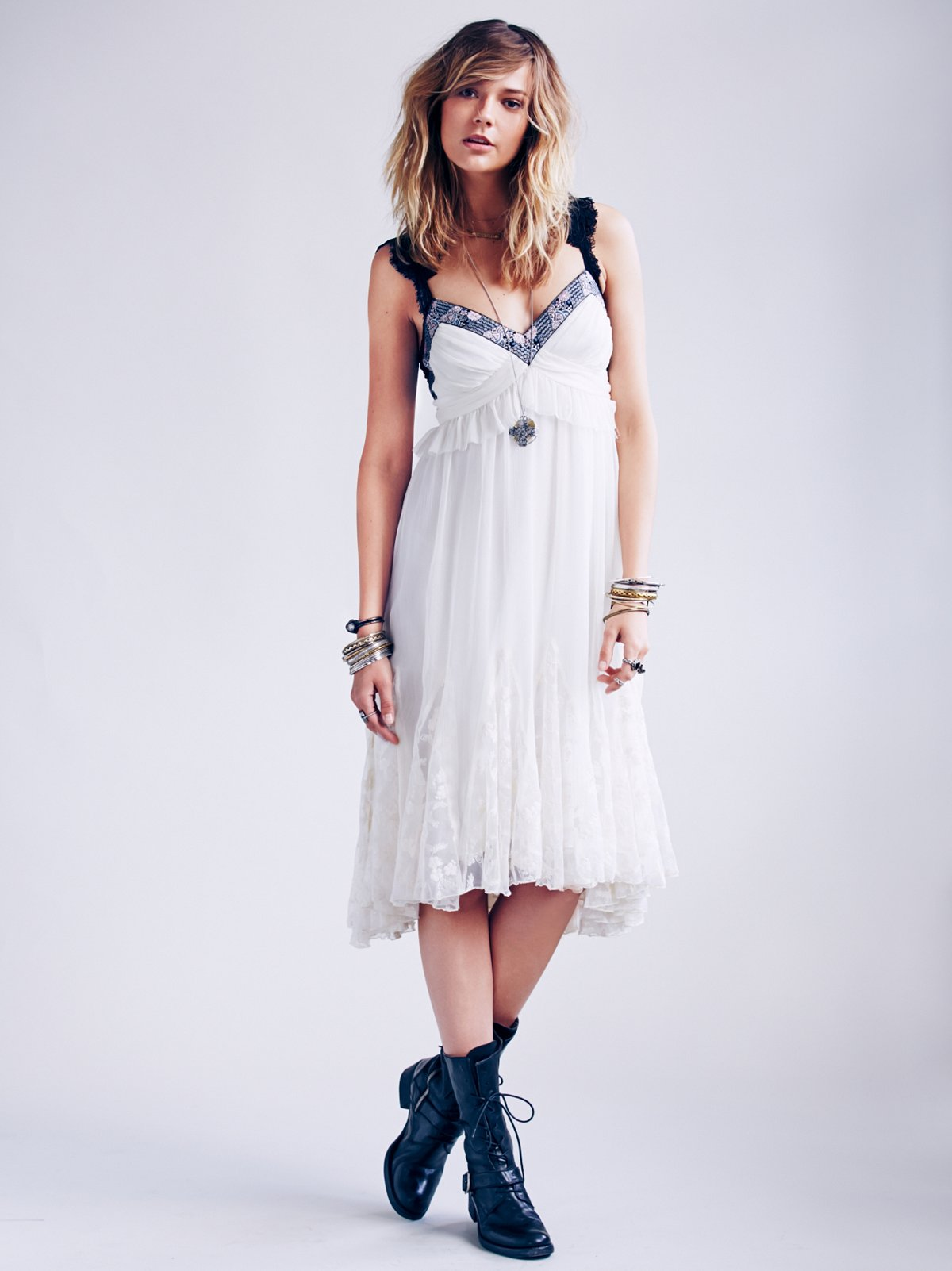 Lace Godet Babydoll Dress