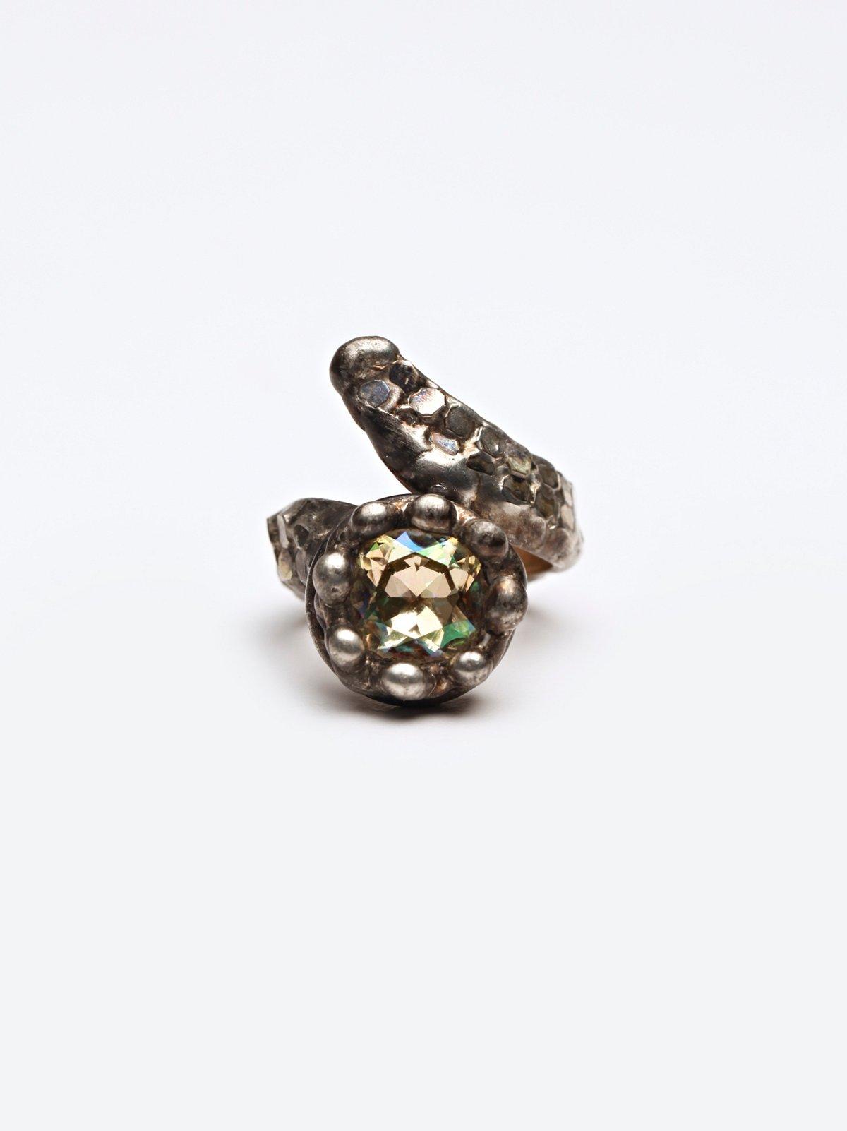 Luminous Stone Mesh Ring