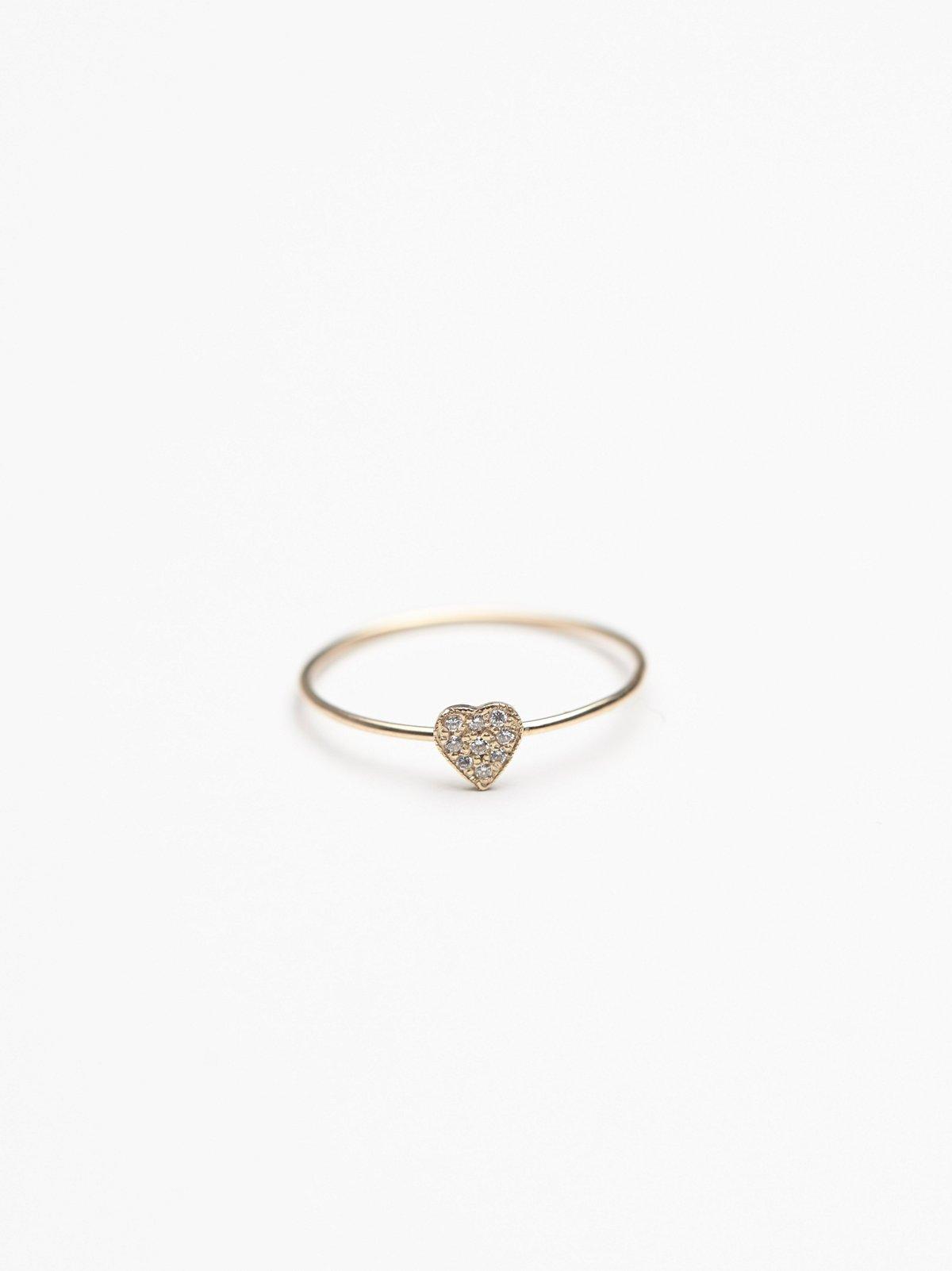 Tiny Diamond Heart Ring