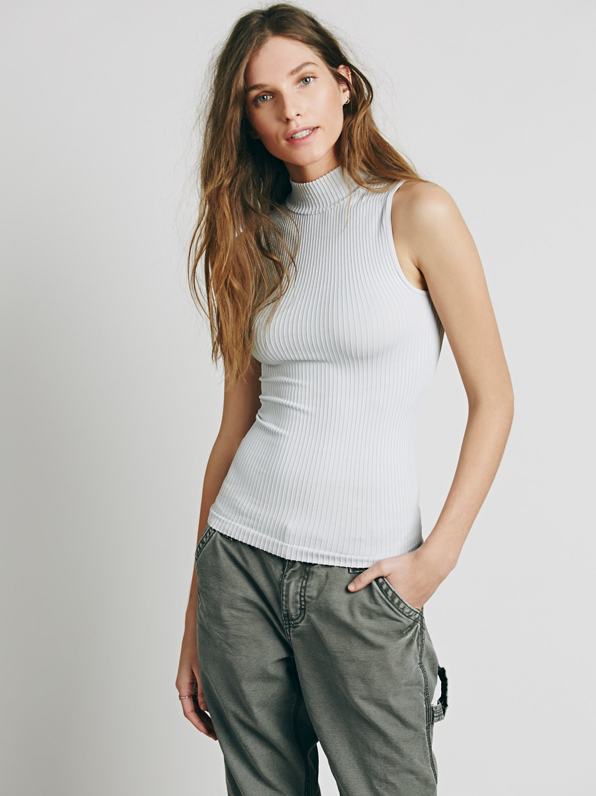 Seamless Mock Neck