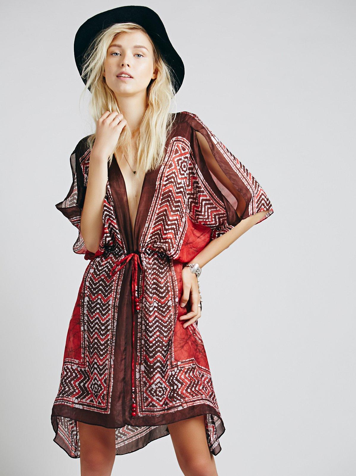 Batik垂悬连衣裙