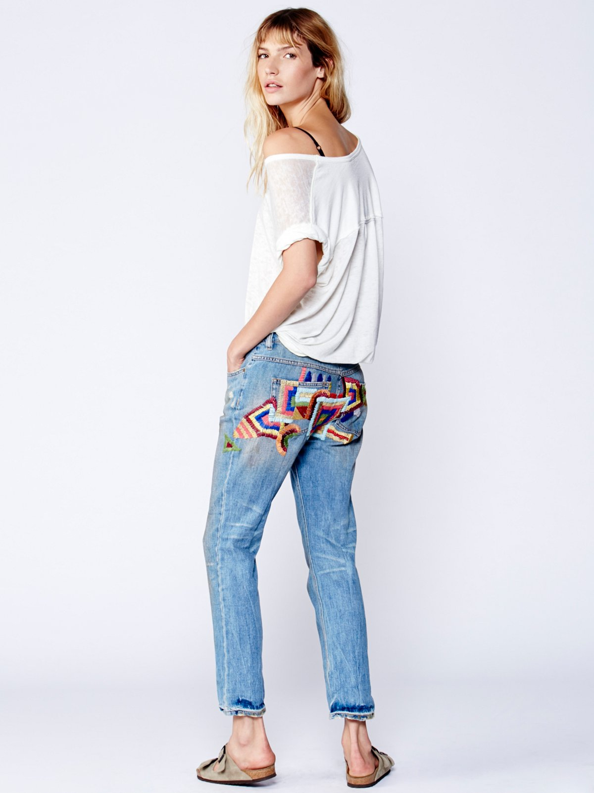 Daybreak Embroidered Skinny